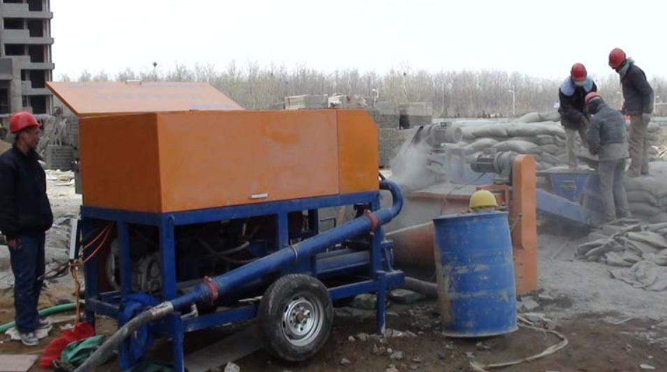 foam concrete machine with pump for floor
